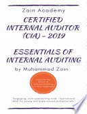 Certified Internal Auditor  CIA  Part 1 2019