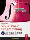 STEPHENS  VISUAL BASIC PROGRAMMING 24 HOUR TRAINER  With CD