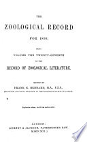 The Zoological Record
