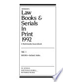Bowker's Law Books and Serials in Print 1992