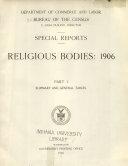 Religious Bodies: 1906 ebook
