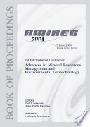 1st International Conference on Advances in Mineral Resources Management and Environmental Geotechnology