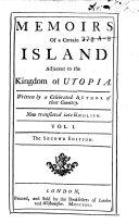 Pdf Memoirs of a Certain Island Adjacent to the Kingdom of Utopia
