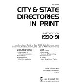 City State Directories In Print