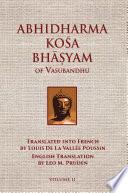 Abhidharmakosabhasyam Of Vasubandhu Vol Ii PDF