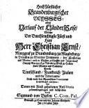 Hochfürstlicher Brandenburgischer Ulysses