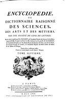 Encyclopédie, ou, Dictionnaire raisonné des sciences, des arts et des métiers: Tomes VII-XII (FO-POL)