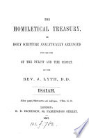 The homiletical treasury  or  Holy Scripture analytically arranged