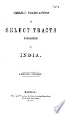 English Translations of Select Tracts Published in India