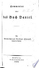 Commentar   ber das Buch Daniel