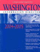 Washington Information Directory 2004 2005