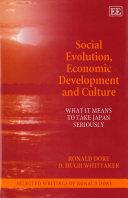 Social evolution, economic development and culture Book