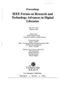 Research and Technology Advances in Digital Libraries Book