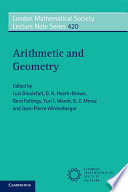 Arithmetic And Geometry