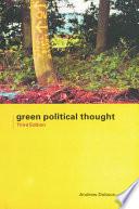 Green Political Thought Pdf/ePub eBook