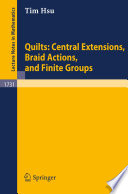 Quilts Central Extensions Braid Actions And Finite Groups
