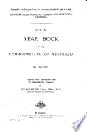 Official Year Book Of The Commonwealth Of Australia No 30 1937