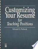 Customizing Your Resume for Teaching Positions