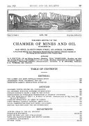 Oil Bulletin  Official Monthly Magazine  Chamber of Mines and Oil  California