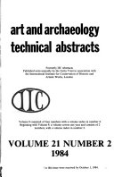 Art and Archaeology Technical Abstracts Book