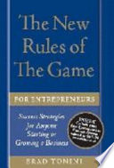 The New Rules of the Game for Entrepreneurs