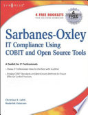 Sarbanes Oxley Compliance Using COBIT and Open Source Tools Book