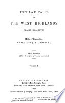 Popular Tales of the West Highlands Book