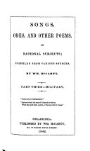 Songs, odes, and other poems, on national subjects. Compiled from various sources by Wm. McCarty