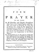 Pdf A Form of Prayer to be used ... on Wednesday the Fifth Day of February 1812, etc