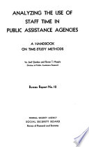 Analyzing the Use of Staff Time in Public Assistance Agencies