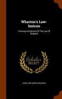 Wharton s Law Lexicon