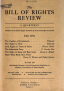 The Bill of Rights Review Book