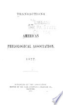 Transactions of the American Philological Association