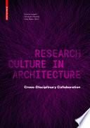 Research Culture in Architecture