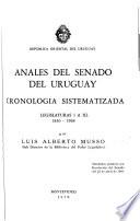 Anales del Senado del Uruguay