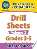 Data Analysis   Probability  Drill Sheets Vol  2 Gr  3 5