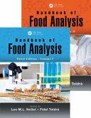 Handbook of Food Analysis  Third Edition   Two Volume Set Book