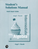 Student s Solutions Manual for Intermediate Algebra for College Students Book