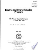 Electric and Hybrid Vehicles Program  Annual Report to Congress  Fourteenth  Fiscal Year 1990 Book