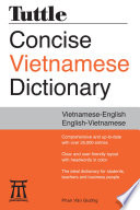 Tuttle Concise Vietnamese Dictionary Book
