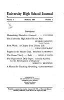 University High School Journal