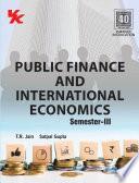 Public Finance and International Economics Sem  III  PBU