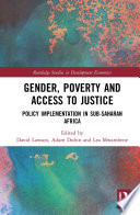Gender Poverty And Access To Justice