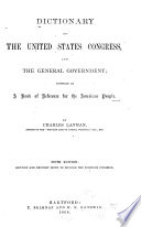 Dictionary Of The United States Congress And General Government Book PDF