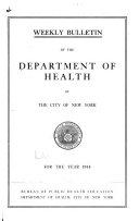 Quarterly bulletin  New York  N Y    Dept  of Health   1914