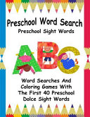 Preschool Word Search