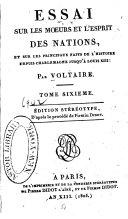 Essai sur les mœurs et l'esprit des nations