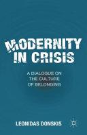 Modernity in Crisis Pdf/ePub eBook