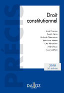 Droit constitutionnel. Édition 2018