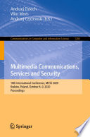 Multimedia Communications  Services and Security Book
